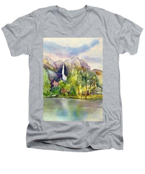 Yosemite Waterfalls Men's V-Neck T-Shirt