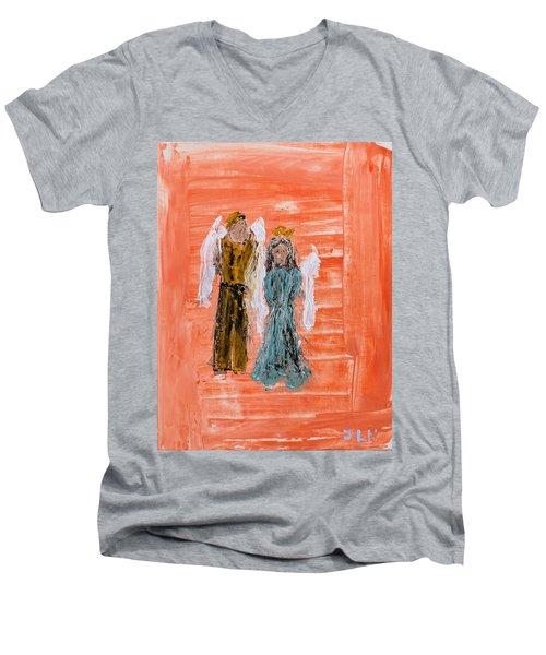 Young Love Angels Men's V-Neck T-Shirt