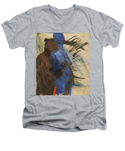 Zeus And His Thunderbolt Men's V-Neck T-Shirt