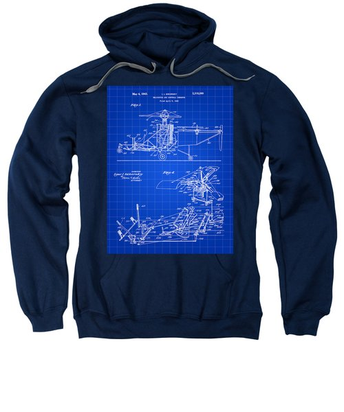 Helicopter Patent 1940 - Blue Sweatshirt