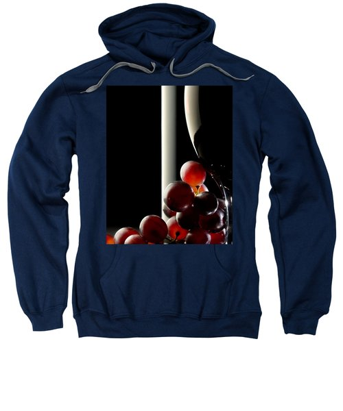 Red Wine With Grapes Sweatshirt