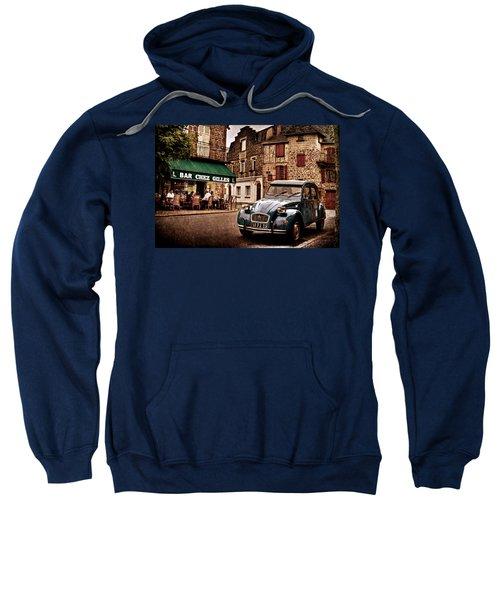 Citroen 2cv In French Village / Meyssac Sweatshirt