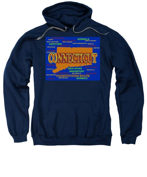 Connecticut State Pride Map Silhouette  Sweatshirt