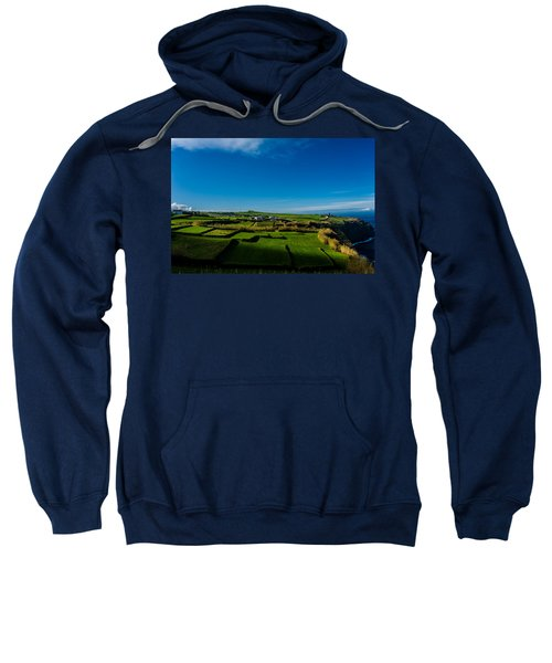 Sweatshirt featuring the photograph Fields Of Green And Yellow by Joseph Amaral