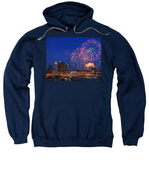 D21l-10 Red White And Boom Fireworks Display In Columbus Ohio Sweatshirt