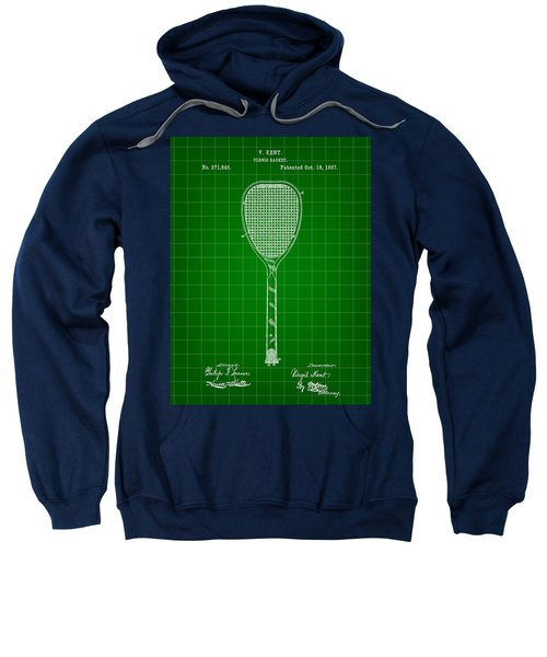Tennis Racket Patent 1887 - Green Sweatshirt