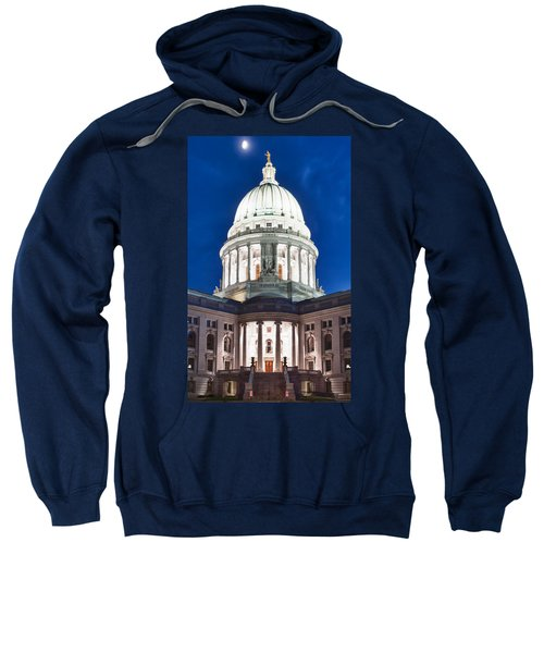 Wisconsin State Capitol Building At Night Sweatshirt