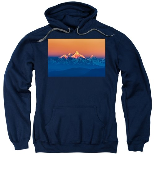 Himalayan Mountains View From Mt. Shivapuri Sweatshirt