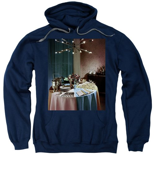 A Buffet Table At A Party Sweatshirt