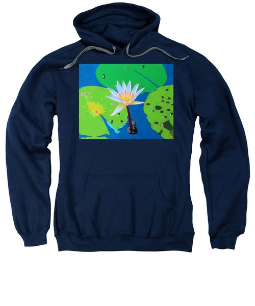 A Water Lily In Its Pad Sweatshirt