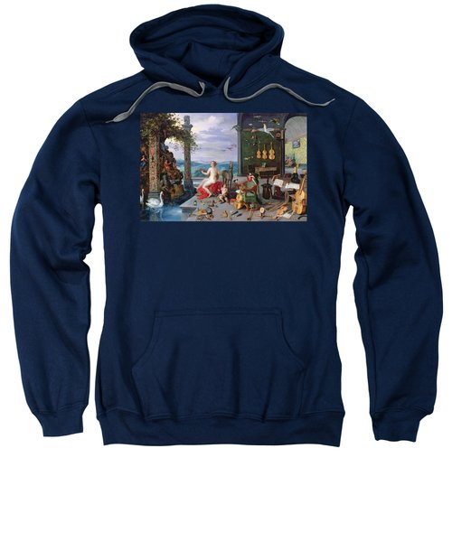 Allegory Of Music Oil On Canvas Sweatshirt