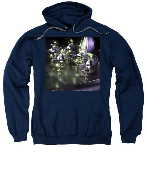 Aubergine Paris Wine Glasses Sweatshirt