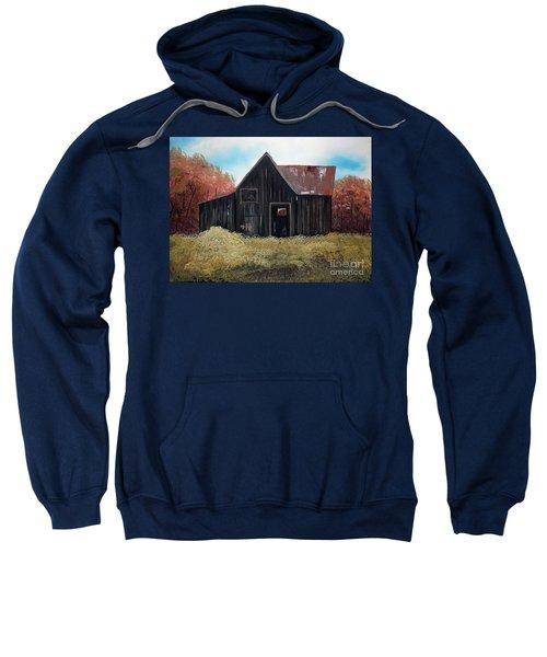 Autumn - Barn -orange Sweatshirt