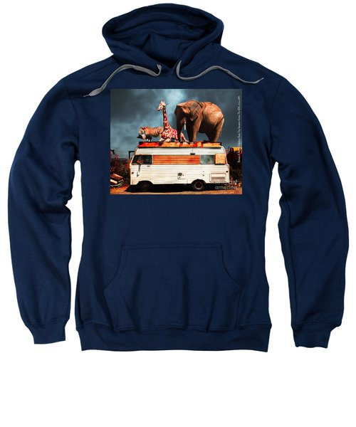 Barnum And Baileys Fabulous Road Trip Vacation Across The Usa Circa 2013 5d22705 With Text Sweatshirt