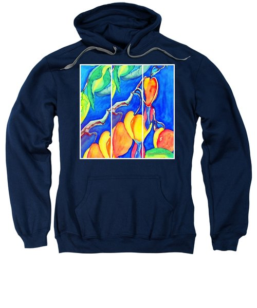 Bleeding Hearts Tryptic - Digital Artwork From Original Watercolor Painting Sweatshirt