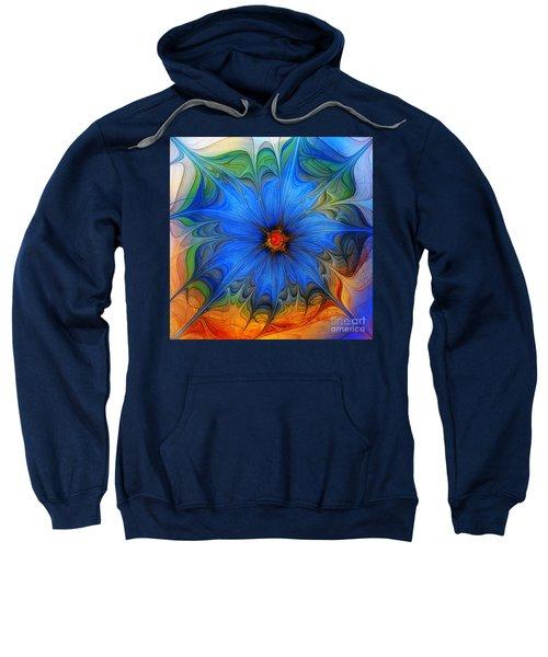 Blue Flower Dressed For Summer Sweatshirt