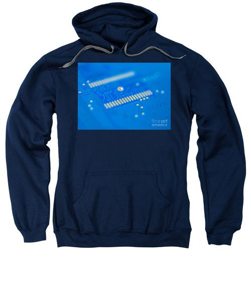 Blue Hard Drive Sweatshirt