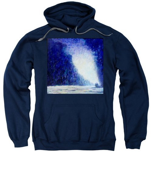Blue Landscape - Abstract Sweatshirt