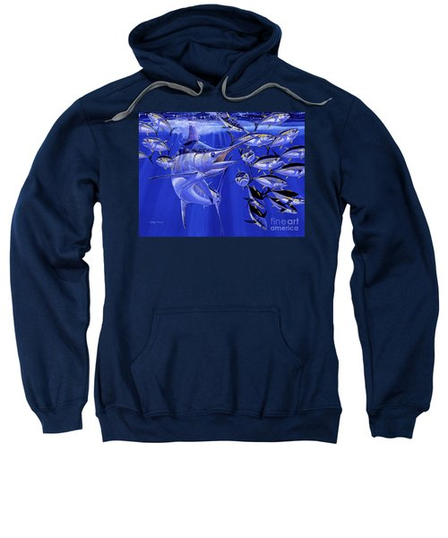 Blue Marlin Round Up Off0031 Sweatshirt