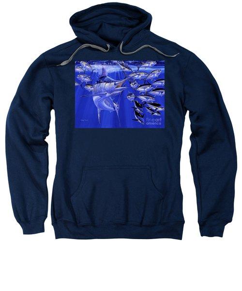 Blue Marlin Round Up Off0031 Sweatshirt