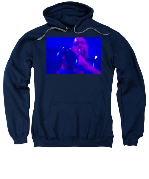 Sweatshirt featuring the photograph Blue Mood by Alex Lapidus