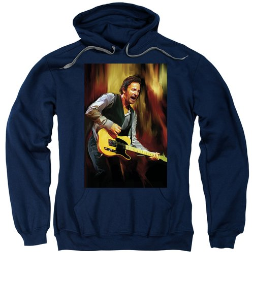 Bruce Springsteen Artwork Sweatshirt by Sheraz A