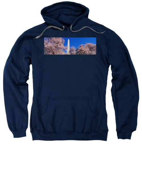 Cherry Blossoms Washington Monument Sweatshirt by Panoramic Images