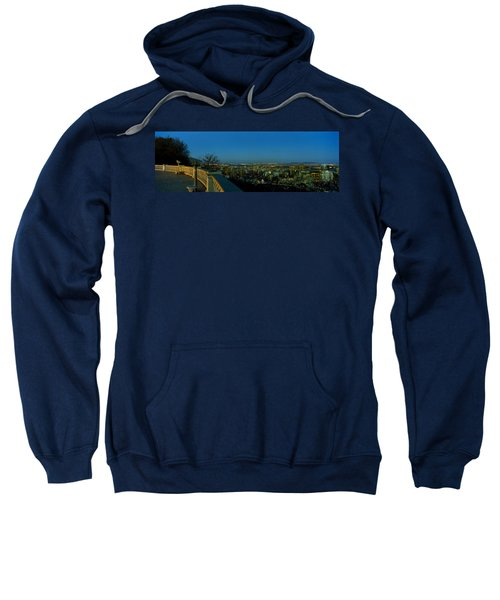 City Viewed From An Observation Point Sweatshirt