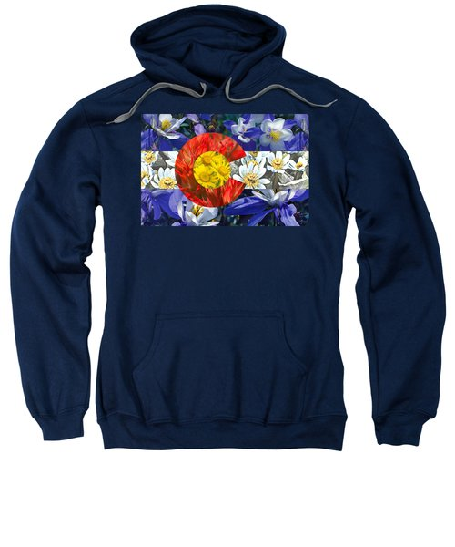 Colorado State Flag With Wildflower Textures Sweatshirt