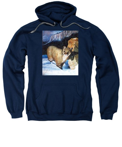 Cougar In Snow Sweatshirt