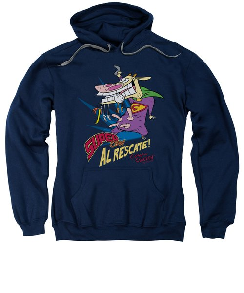 Cow And Chicken - Super Cow Sweatshirt by Brand A