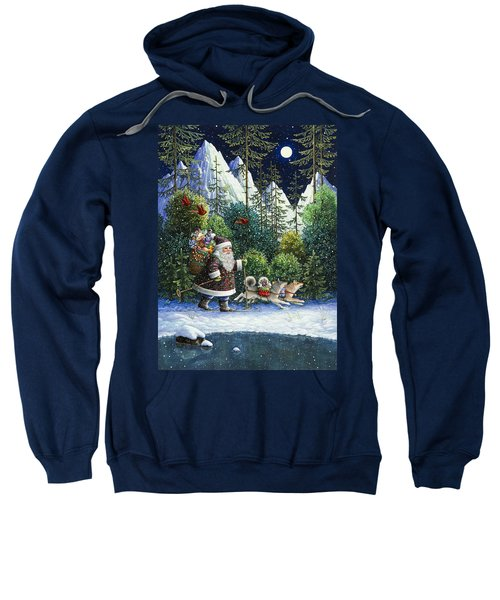 Cross-country Santa Sweatshirt