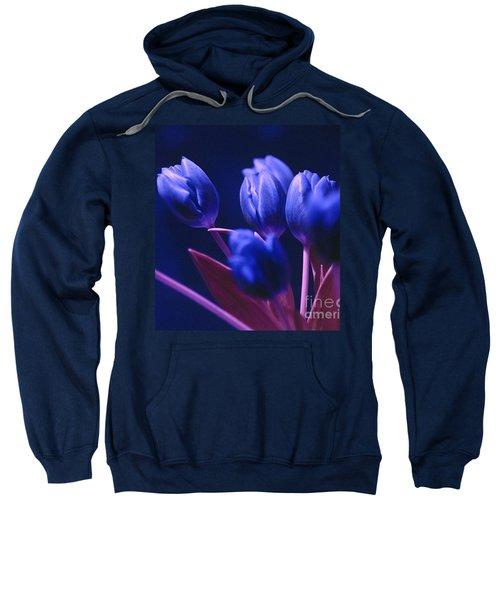 Dark Blue Tulips Sweatshirt