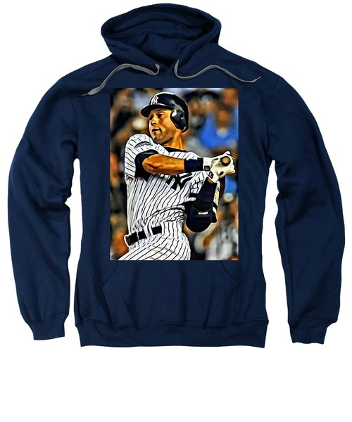 Derek Jeter In Action Sweatshirt