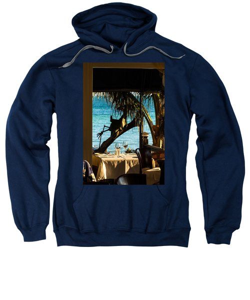 Dining For Two At Louie's Backyard Sweatshirt