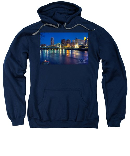 Downtown Minneapolis Skyline Hennepin Avenue Bridge Sweatshirt