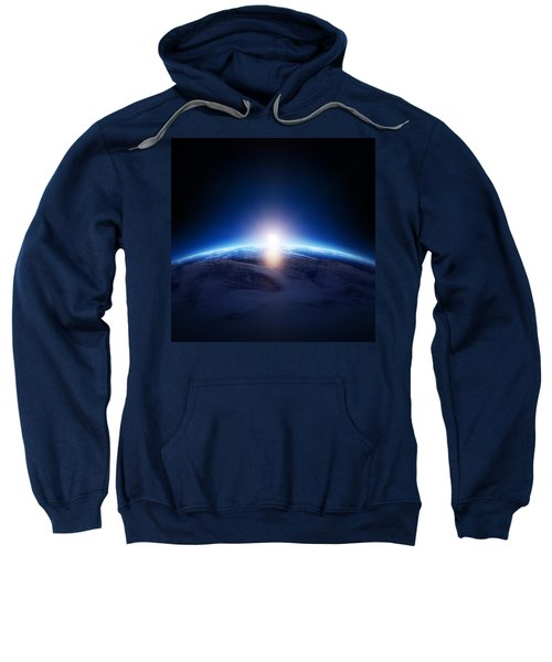 Earth Sunrise Over Cloudy Ocean  Sweatshirt