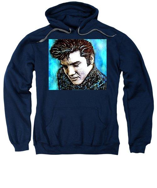 Elvis Presley Never Left The Building Alcohol Inks Sweatshirt