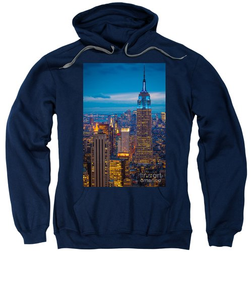 Empire State Blue Night Sweatshirt by Inge Johnsson