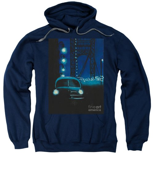 Film Noir In Blue #1 Sweatshirt