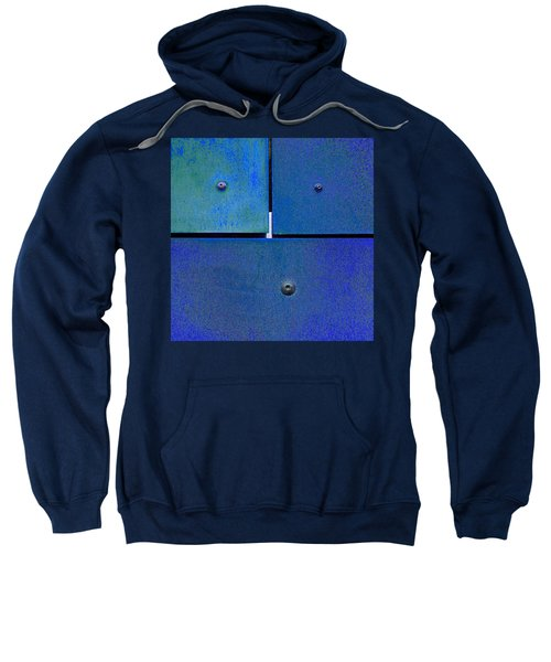 Four Five Six - Colorful Rust - Blue Sweatshirt
