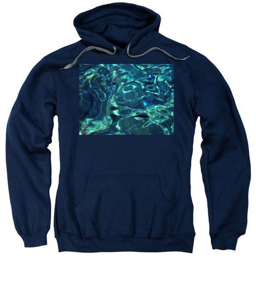 Fresh Clean Santorini Ocean  Water Sweatshirt