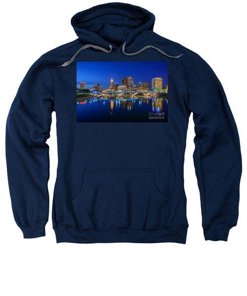 Fx2l530 Columbus Ohio Night Skyline Photo Sweatshirt