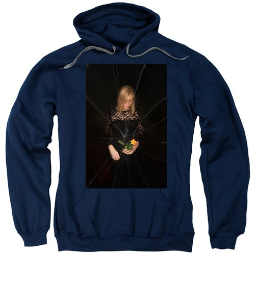 Girl Holding Rose Sweatshirt
