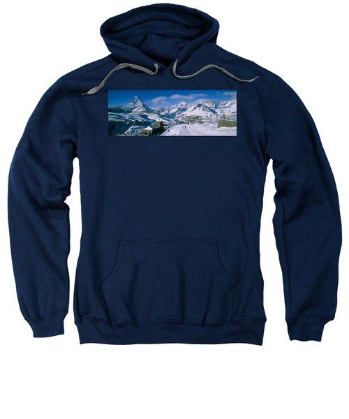 Group Of People Skiing Near A Mountain Sweatshirt