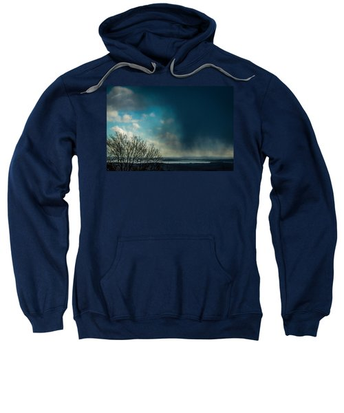 Sweatshirt featuring the photograph Hail Storm Obscures Ireland's Blue Sky by James Truett