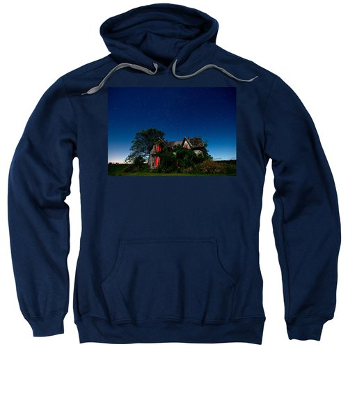 Haunted Farmhouse At Night Sweatshirt