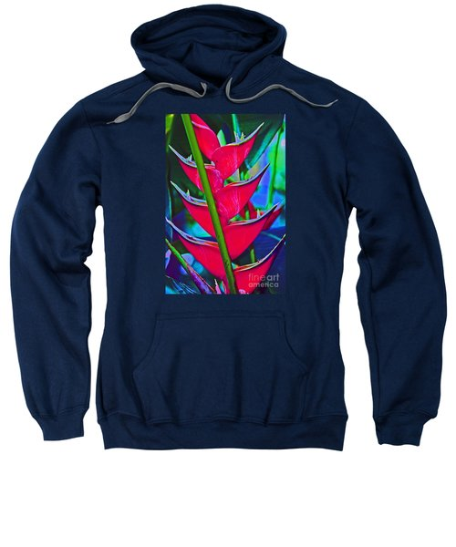 Heliconia Abstract Sweatshirt