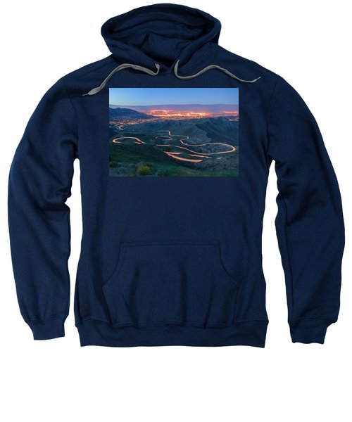 Highway 74 Palm Desert Ca Vista Point Light Painting Sweatshirt