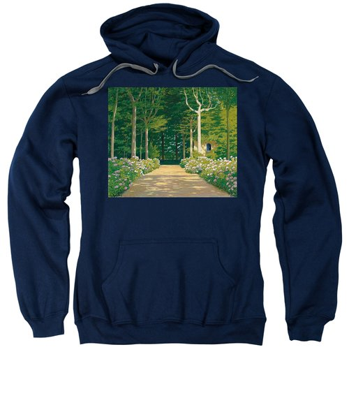 Hydrangeas On A Garden Path Sweatshirt